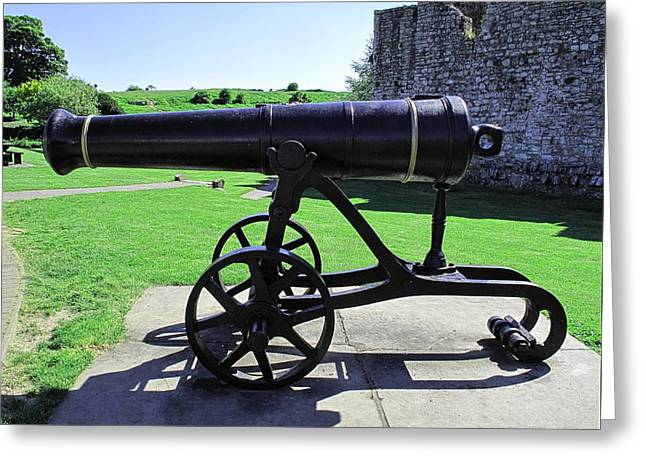 Trim Castle Cannon Greeting Card