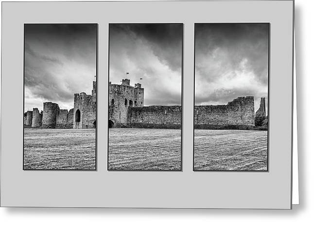 Trim Castle Triptych  Greeting Card
