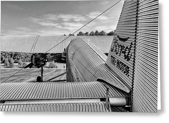Trimotor Tail View - 2017 Christopher Buff, Www.aviationbuff.com Greeting Card by Chris Buff