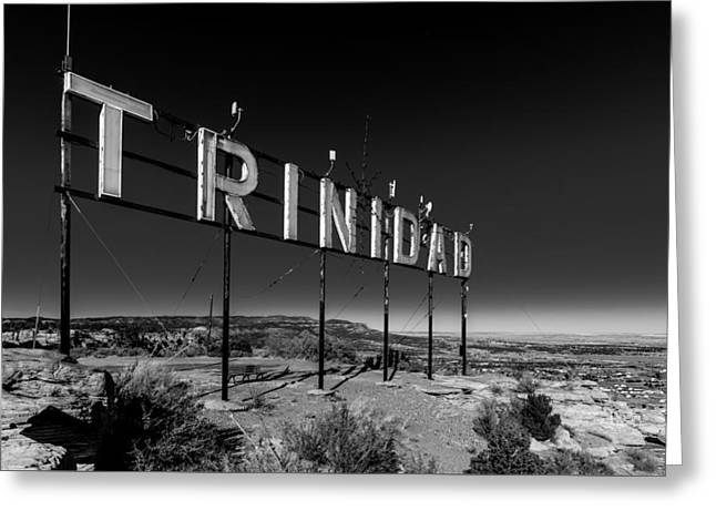 Trinidad Colorado Sign Simpsons Rest Greeting Card