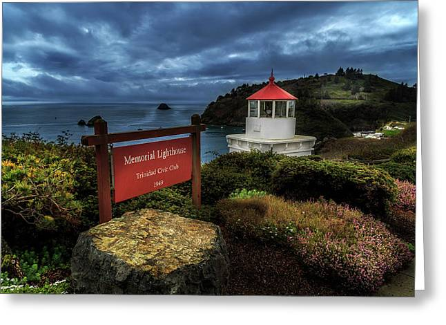 Greeting Card featuring the photograph Trinidad Memorial Lighthouse by James Eddy