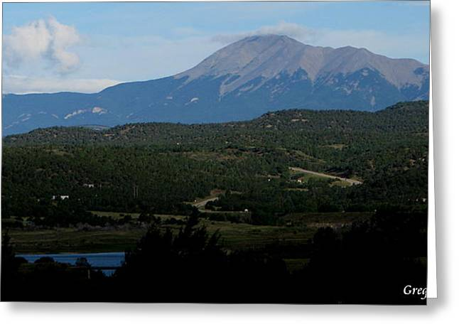 Trinidad Overlook Greeting Card by Greg Patzer