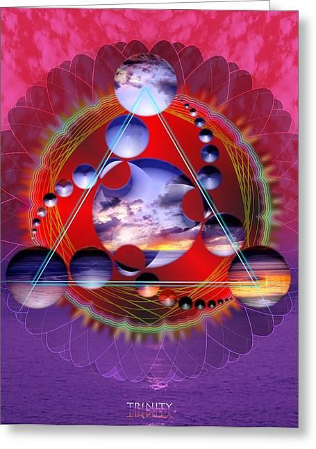 Trinity Greeting Card by Arie Van der Wijst