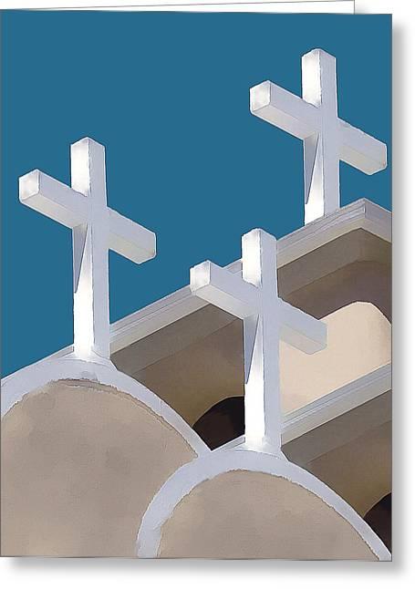 Trinity Greeting Card by Carolyn Marcotte