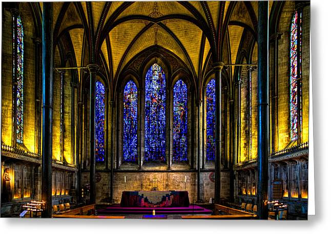Trinity Chapel Salisbury Cathedral Greeting Card