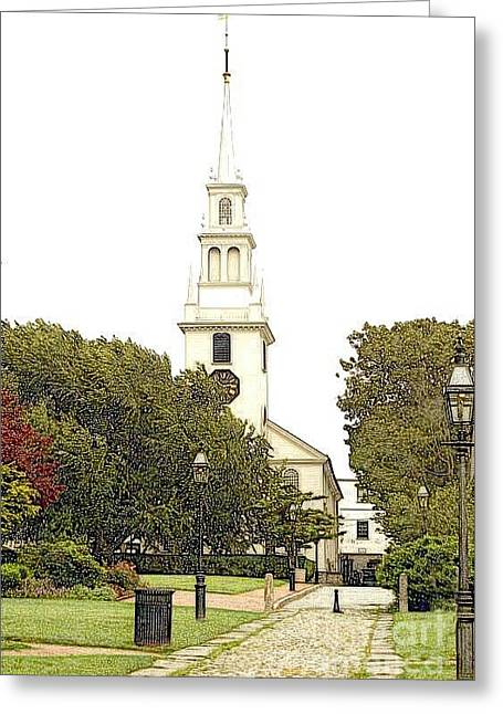 Trinity Church In Newport Ri Greeting Card by Diane E Berry
