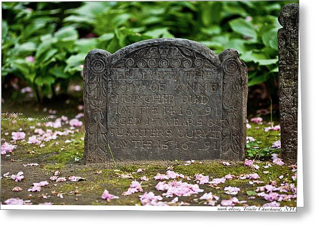 Trinity Church Tombstone Greeting Card