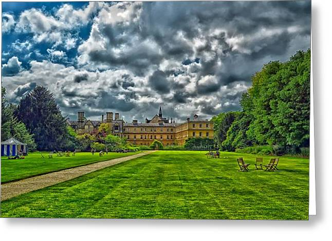 Trinity College - Oxford Greeting Card by Barry Marsh