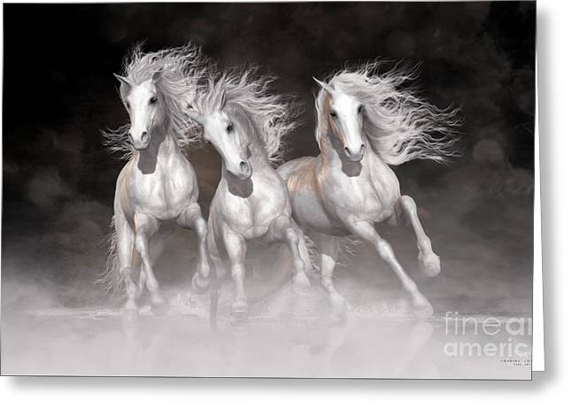 Trinity Horses Neutrals Greeting Card