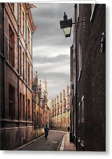 Trinity Lane Cambridge Greeting Card by Gill Billington