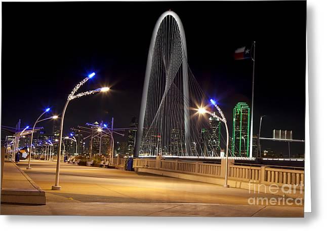 Trinity Sky Bridge In Downtown Dallas, Texas Greeting Card