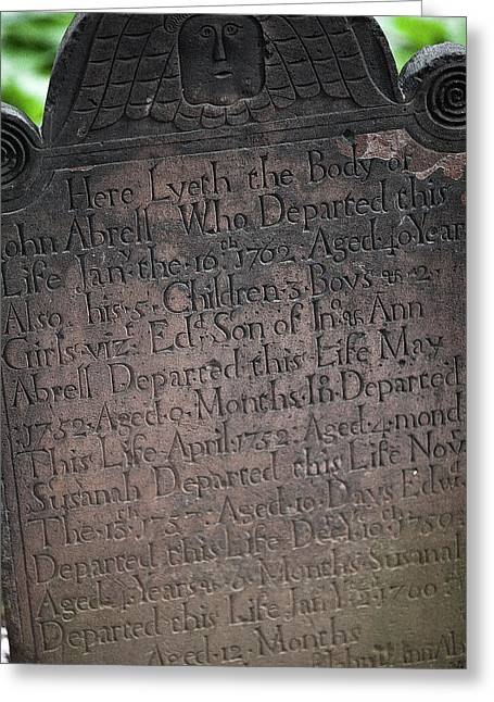 Trinity Tombstone Greeting Card