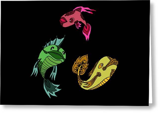 Trio Fish Greeting Card