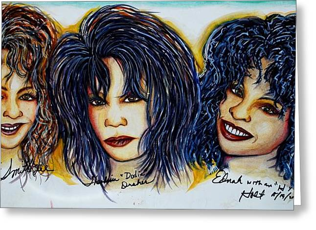 Trio Greeting Card by Joseph Lawrence Vasile