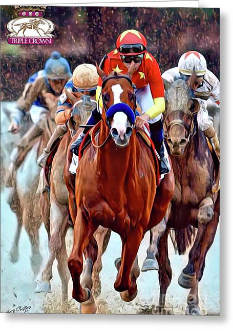 Triple Crown Winner Justify 2 Greeting Card
