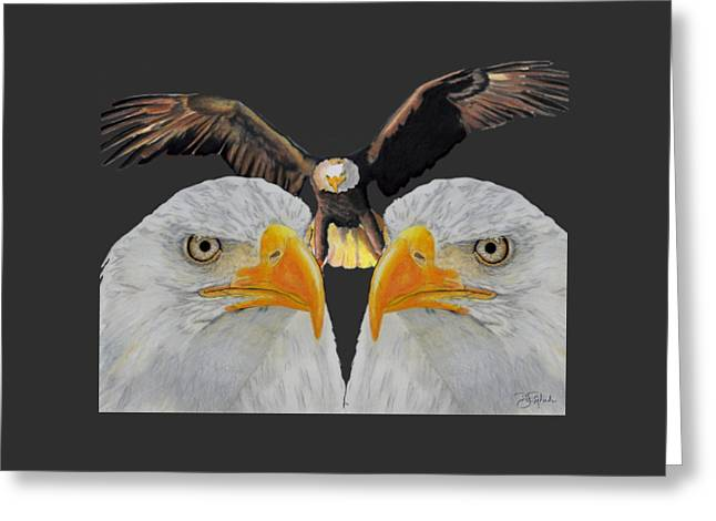 Triple Eagle Greeting Card by Bill Richards