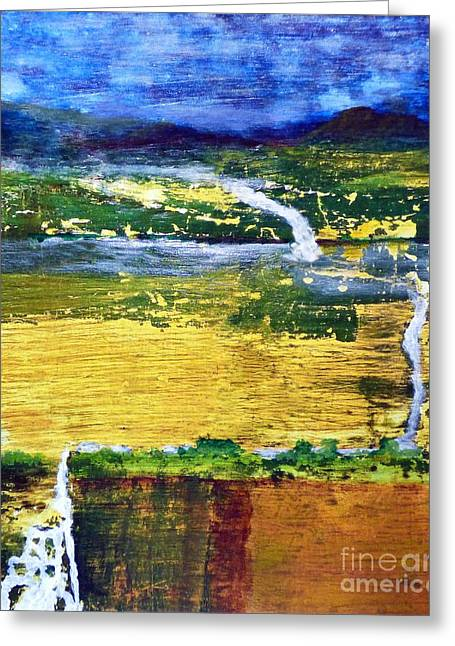 Triple Falls Landscape Greeting Card by Sharon Eng