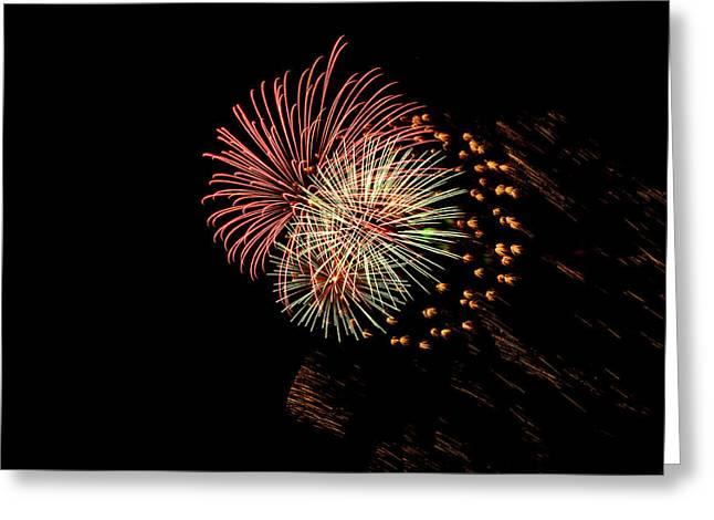 Triple Fireworks Blast Greeting Card