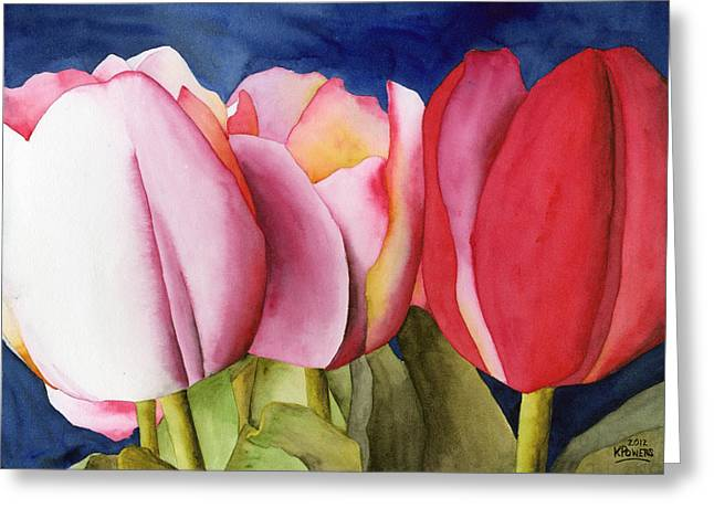 Triple Tulips Greeting Card