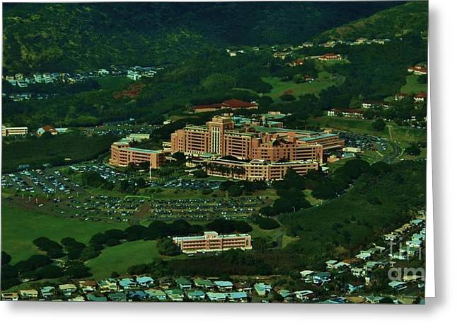Tripler Army Medical Center Honolulu Greeting Card by Craig Wood