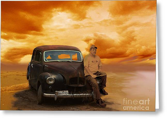 Trippin' With My '48 Austin A40 Greeting Card