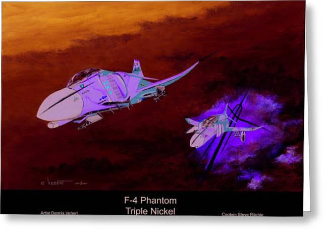 Tripple Nickel Greeting Card by Dennis Vebert