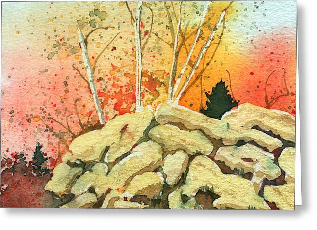 Triptych Panel 2 Greeting Card
