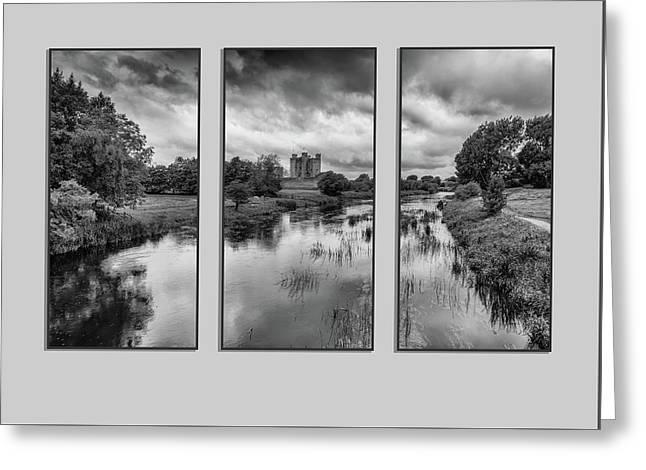 Triptych Trim Castle 2 Greeting Card by Martina Fagan