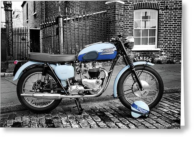 Triumph Bonneville T120 1960 Greeting Card by Mark Rogan