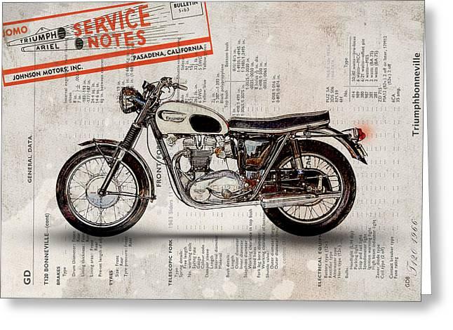Triumph Bonneville T120 1966 Greeting Card