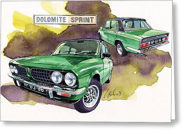 Triumph Dolomite Sprint Greeting Card by Yoshiharu Miyakawa