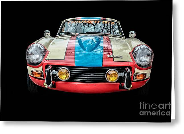 Triumph Gt 6 Plus Race Car Greeting Card