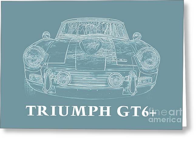 Triumph Gt6 Plus Greeting Card by Edward Fielding