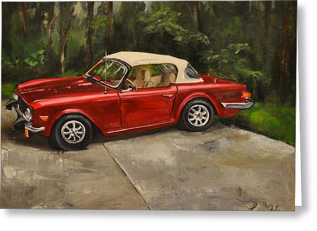 Greeting Card featuring the painting Triumph by Lindsay Frost