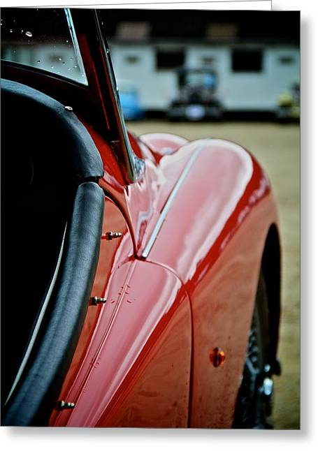Open Car Greeting Cards - Triumph Greeting Card by Odd Jeppesen