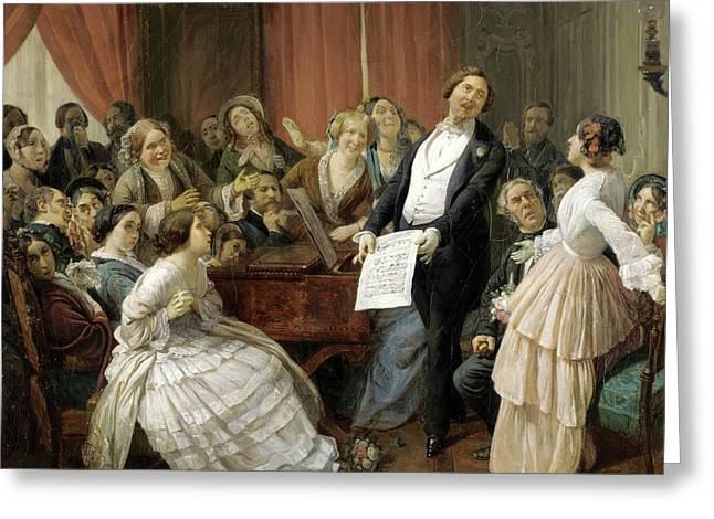 Triumph Of A Tenor At A Musical Matinee Greeting Card