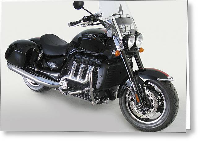 Greeting Card featuring the photograph Triumph Rocket IIi by Richard Wiggins