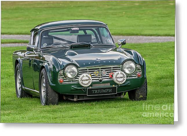 Triumph Sports Car Greeting Card by Adrian Evans