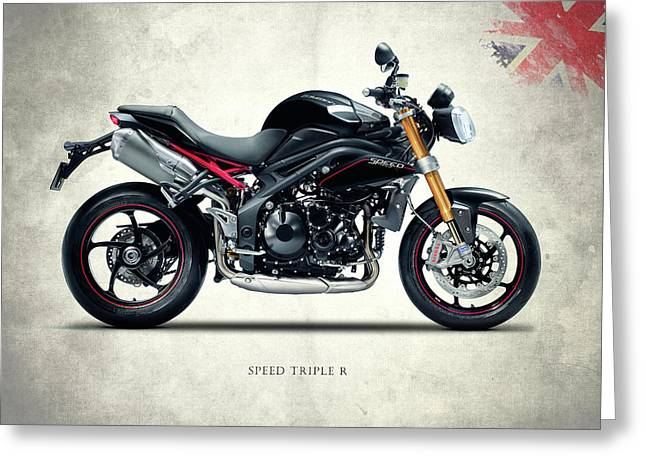 Triumph Street Triple Greeting Card