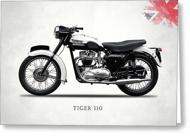Triumph Tiger 110 1959 Greeting Card by Mark Rogan
