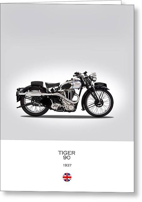 Triumph Tiger 90 Greeting Card by Mark Rogan