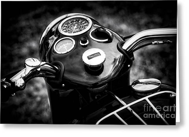 Triumph Tiger T110 Detail Greeting Card by Tim Gainey