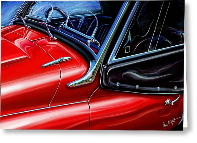 Triumph Tr-3 Sports Car Detail Greeting Card by David Kyte
