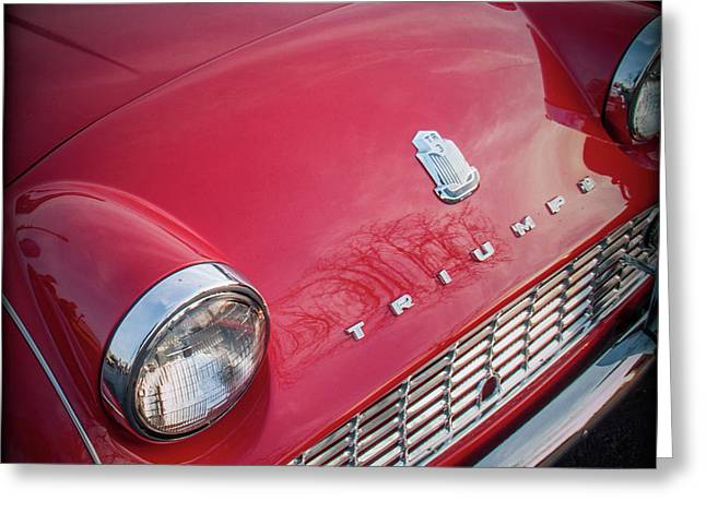 Triumph Tr3 Greeting Card by Mike Burgquist