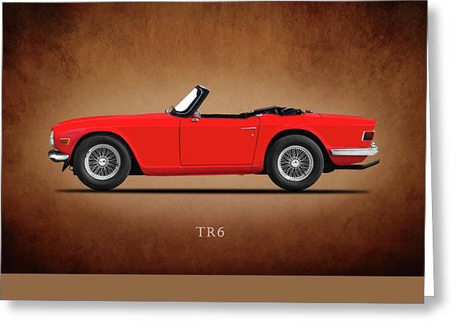 Triumph Tr6 Greeting Card by Mark Rogan