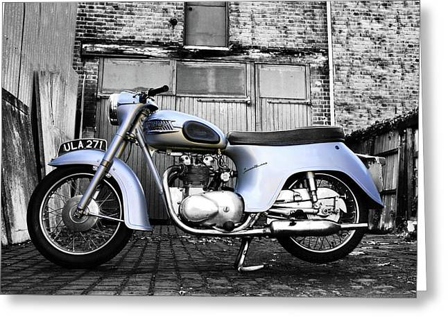 Triumph Twenty One Greeting Card by Mark Rogan