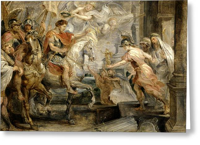 Triumphant Entry Of Constantine Into Rome Greeting Card