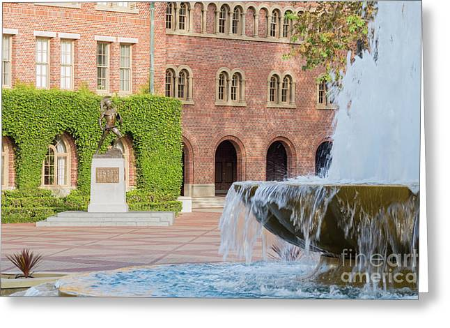 Trojans Statue Of The University Of Southern California Greeting Card