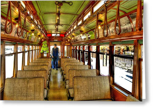 Greeting Card featuring the photograph  Trolley by Raymond Earley