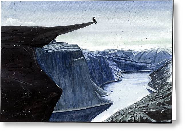 Trolltunga, Norway Greeting Card